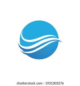 Wave beach vector illustration design logo