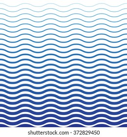 Wave Blue Pattern. Wave Background in Vector