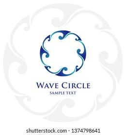 Wave circle logo design. Vector logo template.