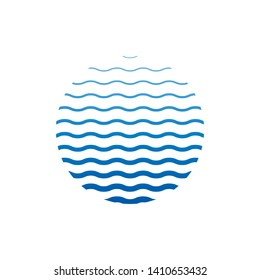 wave circle logo icon. Vector eps10