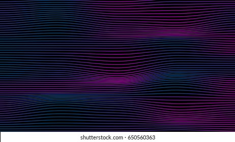 Wave of Electronic Dance Music vector background