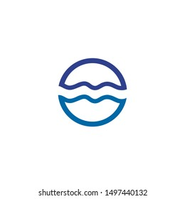 Wave icon logo design inspiration vector illustration template