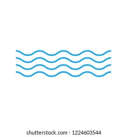 Wave icon on white background. Vector illustrations. Flat design.
