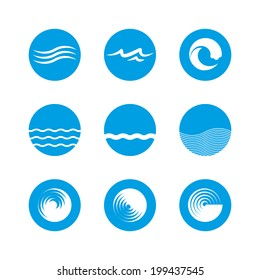 Wave Icon Set - Ocean, Sea, Beach