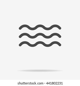 Wave icon. Vector concept illustration for design.