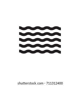 Wave icon vector illustration.
