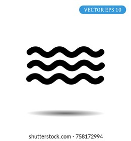 Wave icon. Vector illustration in flat style.