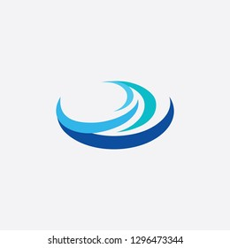 wave icon water logo design element
