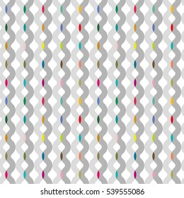 wave line color tile - Geometric seamless pattern