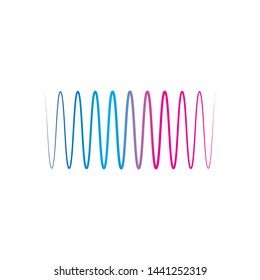 wave line music and sound vector equalizer logo