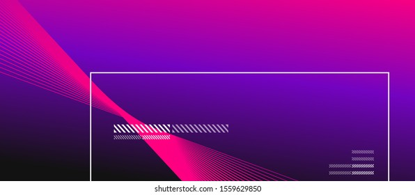 Wave lines with blend effect on fluid gradient, abstract background colorful liquid poster. Vector Illustration For Wallpaper, Banner, Background, Card, Book Illustration, landing page