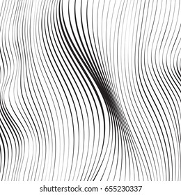 Wave Lines Pattern Abstract Background. Vector