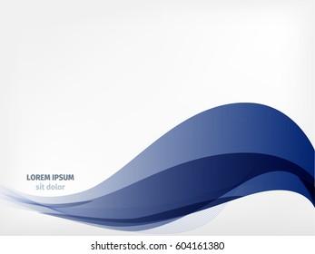 Wave lines vector art. Abstract illustration. Curved blend and gradient line. Pattern for web or design on light backdrop. Good for  flyer, design brochure or website.