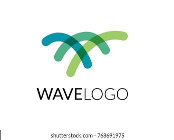 Wave logo. Aquatic water or sea theme business. Vector logo