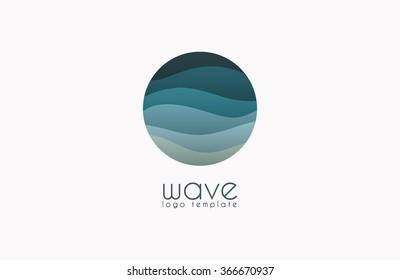 Wave logo. Business Icon. Blue logo. Company logo