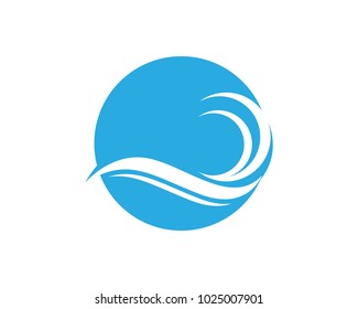 wave logo business template vector icon