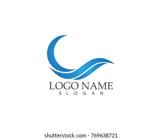 Wave logo design template