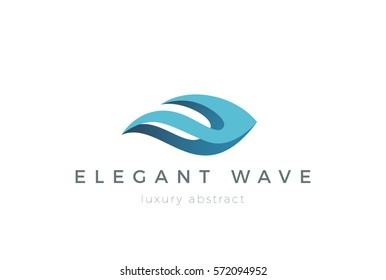 Wave Logo design vector template.