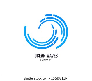Wave logo. Surfing company vector icon. Sea water waves logo. Travel business brand sign. Swimming water sport. Minimalistic modern graphic surfing logotype. Marine or nautical shipping sign.