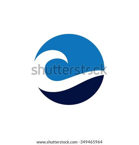 wave logo template のベクター画像素材 ロイヤリティフリー