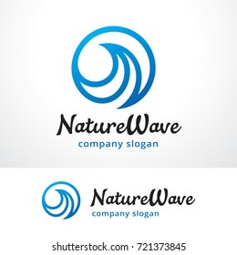 Wave Logo Template Design Vector, Emblem, Design Concept, Creative Symbol, Icon