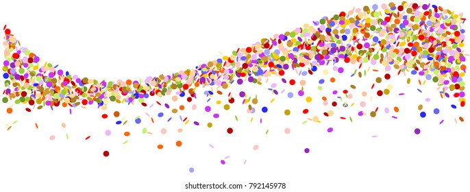 wave made of colorful confetti