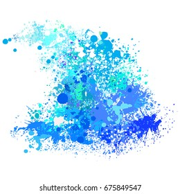 Wave from paint splashes