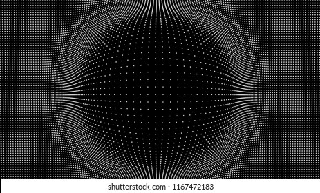 Wave of particles. Technology vector background. Big Data Particle .Vector illustration.