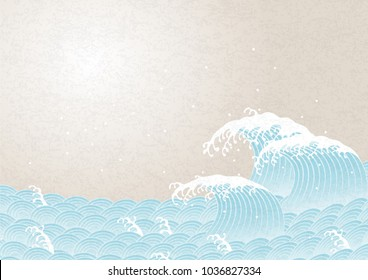 wave. pattern of Japanese style.