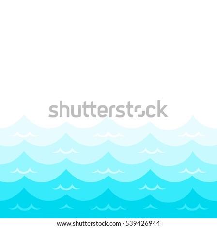 Wave Sea Ocean Vector Illustration Pattern Stock Vector Royalty
