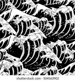 wave seamless monochrome