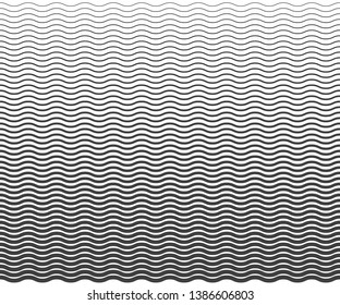 Wave simple seamless wavy line, smooth pattern, Black & white, web design, greeting card, textile, Technology background, Eps 10 vector illustration