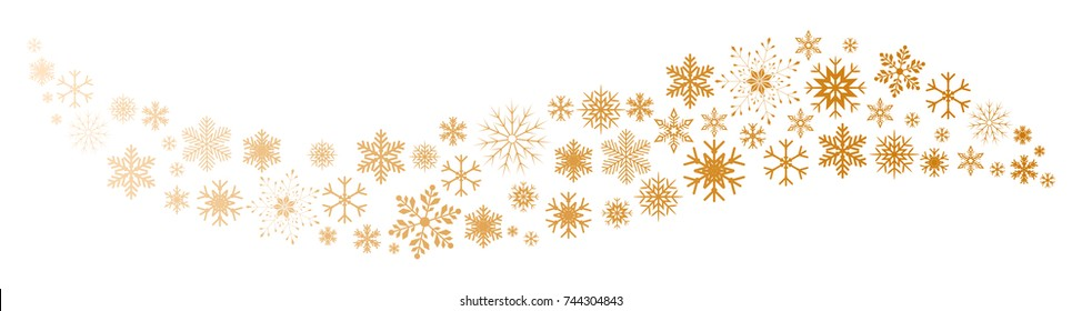 Wave snowflake background - stock vector