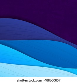 Wave style modern background design in blue tone and with perspective and gradient vector illustration