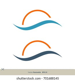 Wave Swoosh Logo Template