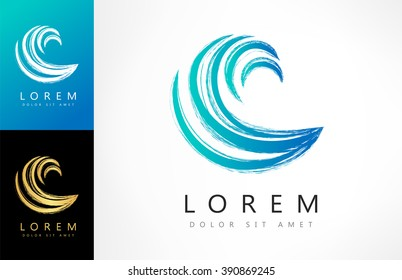 Wave vector logo. Business Icon.