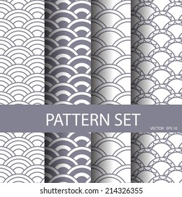 wave vector seamless patterns set. Endless texture can be used for wallpaper, pattern fills, web page background,surface textures.