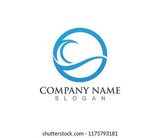 Wave water beach vector logo template