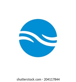 Wave water icon , abstract icon, vector symbol