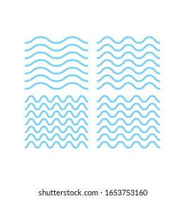 wave water line abstract white background vector illustration