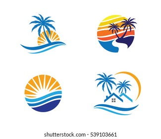 wave water Logo Template
