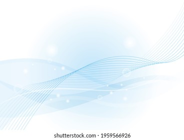 Wave, Waves, Background, Curved Line, Sea, Wind, Blue, Summer