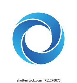 wave / whirlpool logo icon