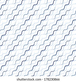 Waved line pattern including seamless sample in swatch panel