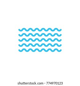 Waves flat vector icon