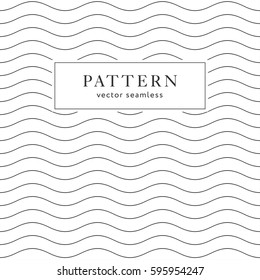 Waves geometric seamless pattern. Simple black and white background design. Template for prints, wrapping paper, fabrics, covers, flyers, banners, posters and placards, EPS10 vector illustration.