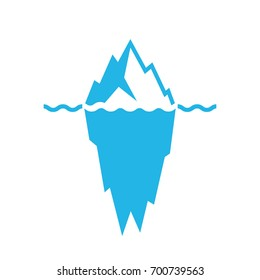 Waves and iceberg vector icon isolated on white background