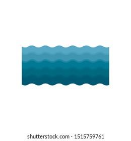 Waves icon, modern minimal flat design style. Wave symbol, vector illustration.