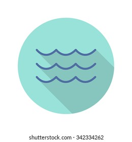 waves icon. vector illustration