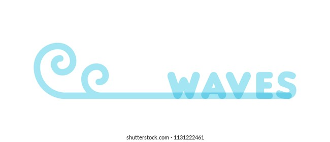 Waves icon. Vector illustration, flat design